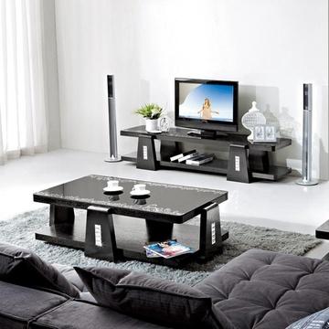周家庄 客厅组合茶几电视柜角几 时尚简约茶几 创意玻璃茶几 1126