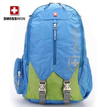 swisswin瑞士军刀双肩包背包登山包旅行包户外潮男女生sw9176(蓝色)图片