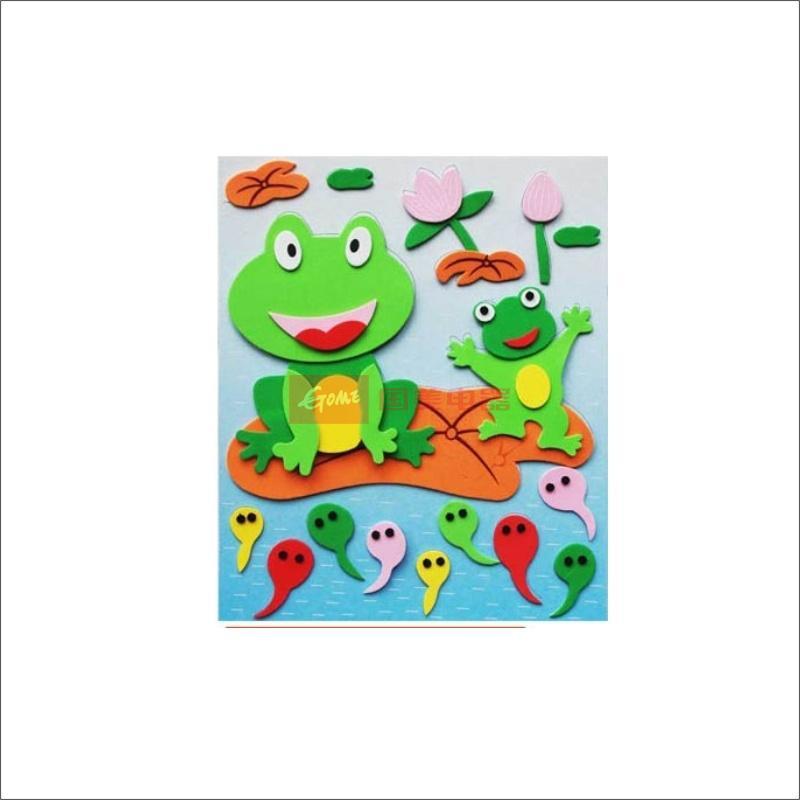 日照鑫 海绵立体拼图 海绵纸 儿童手工贴画 益智玩具 随机发货 5个装图
