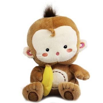 可爱小猴子毛绒玩具公仔