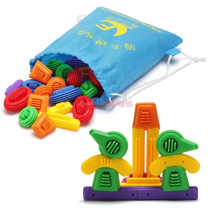 意玩具塑料拼插拼图配对积木乐高式米意奇妙智力玩具图片